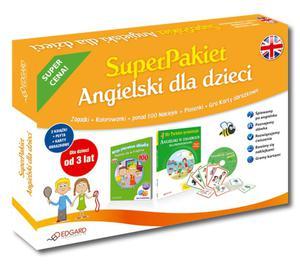 Angielski dla dzieci. SuperPakiet. 2 książki + płyta + karty obrazkowe (od 3 lat) - 2857600017
