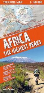 Africa the highest peaks 1:150 000 trekking map - 2825737994