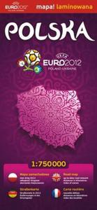 Polska 1:750 000 Euro 2012 mapa samochodowa laminowana - 2825738328