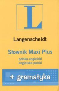 Słownik PLUS polsko-angielski angielsko-polski z gramatyką - 2825653913