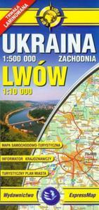 Ukraina Zachodnia Lwów 1:500 000 Mapa laminowana