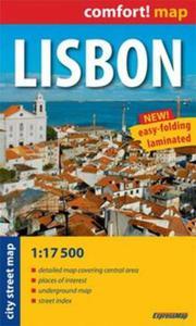 Lisbon laminowany plan miasta 1:17 500 - mapa kieszonkowa - 2857608809