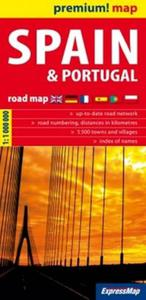 Spain and Portugal road map 1:1 000 000