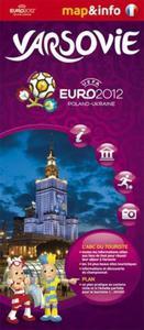 Varsovie Warszawa Euro 2012 - 1:26 000 mapa i miniprzewodnik - 2857614335