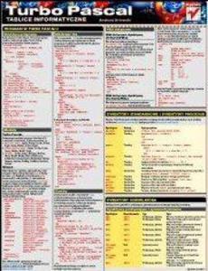 Tablice informatyczne. Turbo Pascal - 2857620534