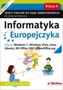 Informatyka Europejczyka. Klasa 4, szkoła podstawowa. Zeszyt ćwiczeń. Windows 7, Vista, Linux Ubuntu - 2857622519