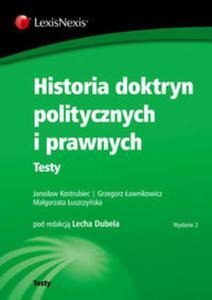 Historia doktryn politycznych i prawnych Testy - 2857629806