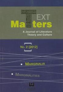 Text Matters A Journal of Literature Theory and Culture 2/2012 - 2857642809
