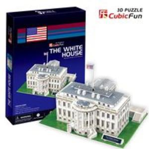 Puzzle 3d led biały dom - 2825779364