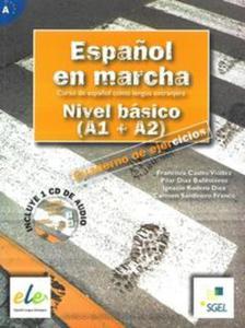 Espanol en marcha Nivel basico A1+A2 ćwiczenia + CD Audio - 2857653184