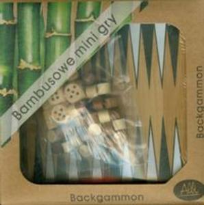 Bambusowe mini gry Backgammon - 2857656584