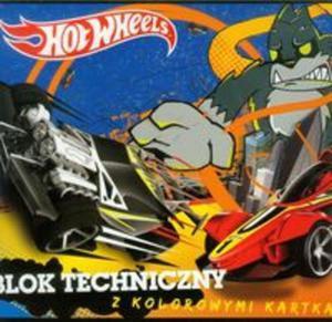 Blok techniczny Hot Wheels A4 z kolorowymi kartkami 10 kartek - 2857656704