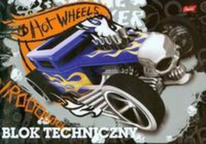 Blok techniczny Hot Wheels A4 10 kartek czarny - 2857657383