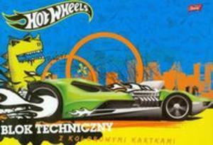 Blok techniczny Hot Wheels A4 z kolorowymi kartkami 10 kartek niebieski - 2857657384