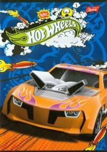 Zeszyt Hot Wheels A5 w 3 linie 16 kartek linia dwukolorowa - 2857657427