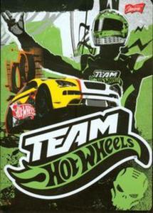 Zeszyt Team Hot Wheels A5 w linie 32 kartki zielony - 2857657460