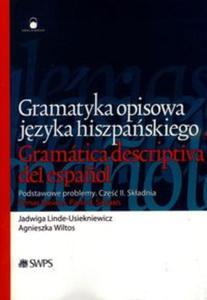Gramatyka opisowa języka hiszpańskiego Część II Składnia