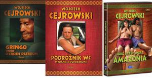 Pakiet. Gringo wśród dzikich plemion, Podróżnik WC, płyta DVD Boso przez świat Amazonia. - 2857664991