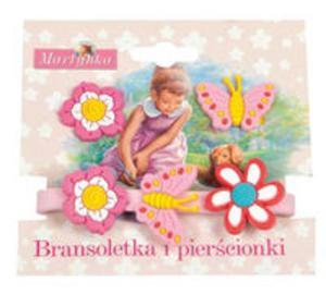 Martynka Bransoletka i pierścionki 1 (z różowo-biało-żółtym kwiatkiem) - 2857670249