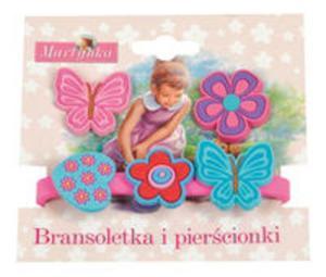 Martynka Bransoletka i pierścionki 3 (z różowym motylem) - 2857671115