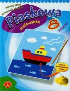 Piaskowa malowanka mini statek - 2825808802