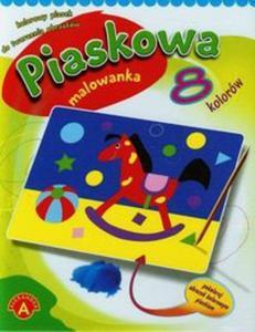 Piaskowa malowanka mini konik - 2825808803