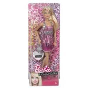 Barbie Fashionistas Lalka różowa brokat - 2857675823