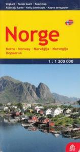 Norwegia mapa 1:1 200 000 - 2857680475