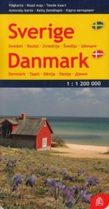 Szwecja Dania mapa 1:1 200 000 - 2857680477
