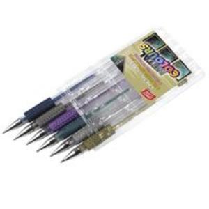 Długopis żelowy metaliczny 6 kolorów