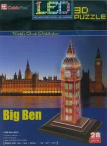 Puzzle 3D Led Zegar Big Ben - 2825826166