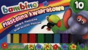 Plastelina kwadratowa Bambino 10 kolorów - 2857692596
