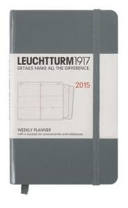 Weekly Planner 2015 Pocket antracyt - 2825830632