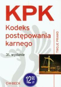 Kodeks postępowania karnego. KPK. 31. wydanie
