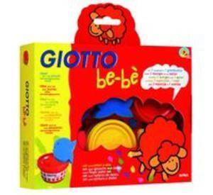 Farby do malowania palcami Giotto BeBe 3x100ml + gąbki stempelki - 2857700516