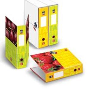 Segregator z pudełkiem A4 Pigna Fruits 2 zaczepy z dźwignią mix wzorów - 2857700702