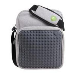 0b3ccef7ccc69 Torba na ramię listonoszka mała Pixel Bags szara - 2857702361
