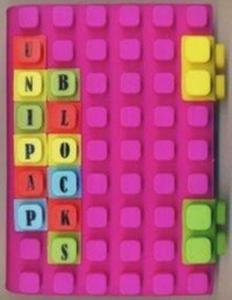 Notes silikonowy A6 Unipap Blocks w kratkę 100 kartek fioletowy - 2853543490