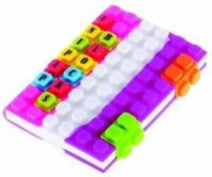 Notes silikonowy A6 Unipap Blocks w kratkę 100 kartek różowo-biało-fioletowy - 2853543494