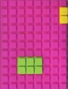 Notes silikonowy A7 Unipap Blocks w kratkę 60 kartek fioletowy - 2853543935