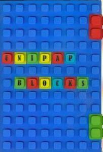 Notes silikonowy A5 Unipap Blocks w kratkę 100 kartek niebieski - 2825842854