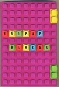 Notes silikonowy A5 Unipap Blocks w kratkę 100 kartek fioletowy - 2853544193