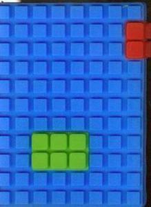 Notes silikonowy A7 Unipap Blocks w kratkę 60 kartek niebieski - 2825842866