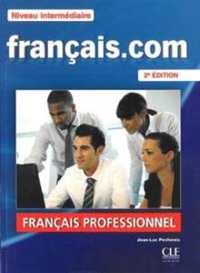 Francais. com Niveau intermediaire podręcznik + DVD + guide communication - 2856886592