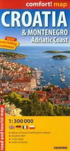 Croatia Montenegro Adriatic Coast mapa samochodowo-turystyczna 1:300 000 - 2851035907
