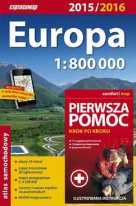 Europa atlas samochodowy 1:800 000 + pierwsza pomoc - 2857719461