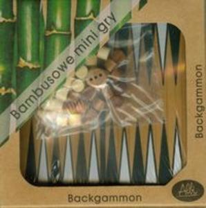 Bambusowe mini gry Backgammon - 2857720147