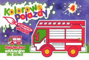 Kolorowe pojazdy 4 - Malowanka wodna, Książeczka edukacyjna dla dzieci - 2825661999