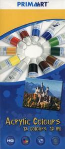 Farby akrylowe Prima Art 12 kolorów 12 ml w tubie - 2851044549