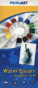 Farby akwarelowe Prima Art 12 kolorów 12 ml w tubie - 2853561144